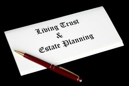 Estate Planungsunterlagen Standard-Bild