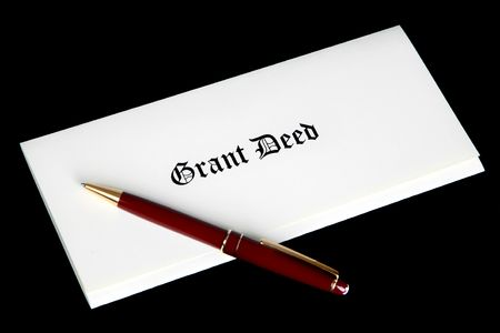 Grant Deed real estate document photo