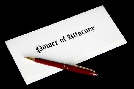 Power of Attorney document photo