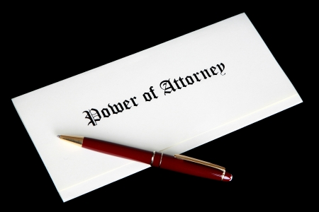 Power of Attorney document Stock Photo