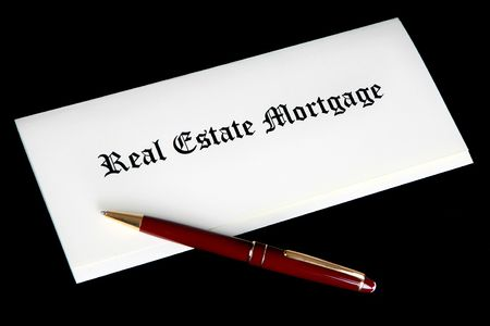 Real Estate Mortgage documents 免版税图像