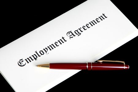 Employment Agreement or contract Stock Photo - 6337833