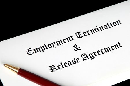 Employee termination agreement or contract Stock Photo - 6337834