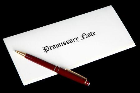 약속 어음 또는 대출 서류 스톡 콘텐츠 - 6337835