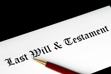 Last will & testament document