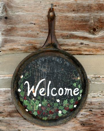 Old fashioned WELCOME sign