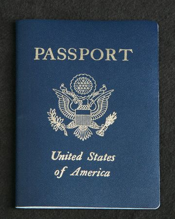 USA passport on a dark gray background Reklamní fotografie