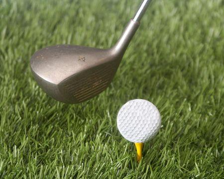 Closeup of a golf swing 免版税图像