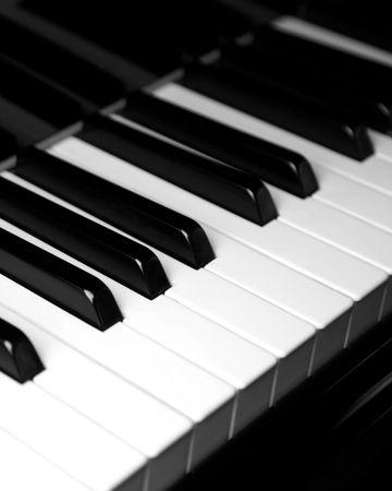 Piano-Tastatur - vertikal