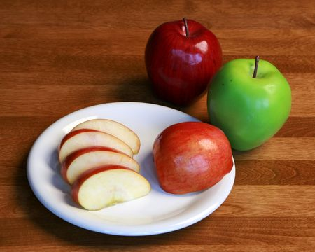 Healthy apple snack