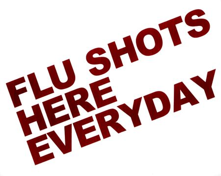 shot: Flu shot sign