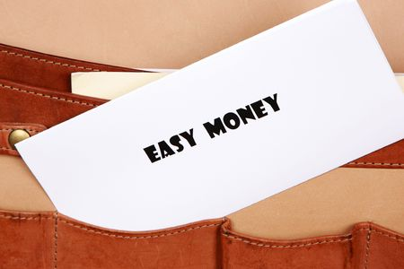 EASY MONEY ideas in this document in a briefcase photo