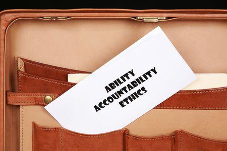 Ability, Accountability and Ethics photo