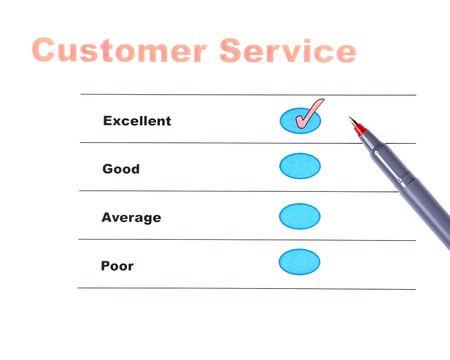 優秀な結果を顧客調査 写真素材