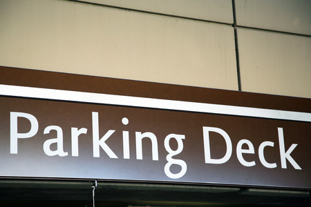 congested: Parking deck sign