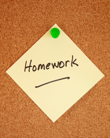 final examination: Homework reminder