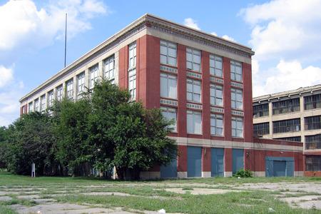 abandoned factory: Abandoned automotive factory Stock Photo