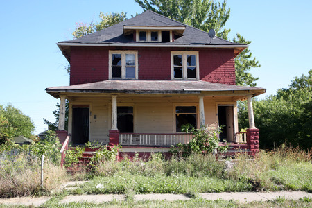 transitional: Abandoned home