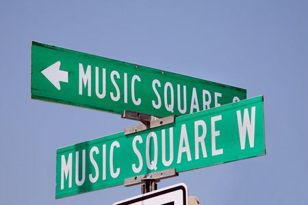 Muziek plein teken in Nashville, Tennessee