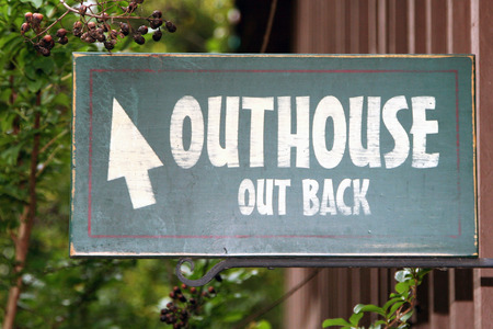 outhouse: Outhouse sign Stock Photo