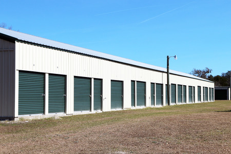 Storage units in a retail lease facility.  Many people use these for temporary storage of household goods.
