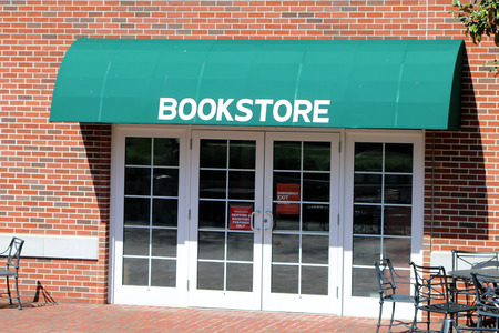book store: Generic image of a bookstore with awning.