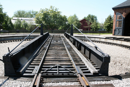 greenfield: DEARBORN, MI-MAY, 2015:  Roundhouse railroad track at Greenfield Village in michigan.