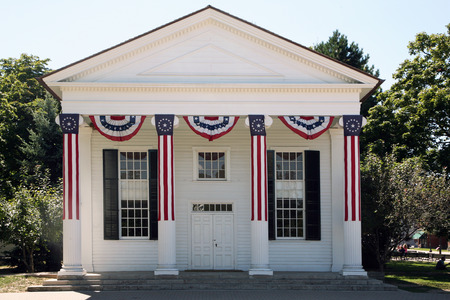 greenfield: DEARBORN, MI-MAY, 2015:  Generic Town Hall building at Greenfield Village.  Typical of many small town halls in the northeast and built in the latter part of the 18th century.