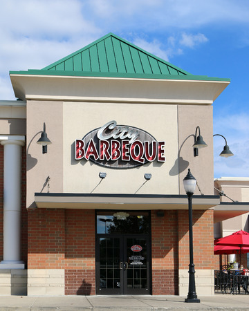 CINCINNATI, OHIO-DECEMBER 30, 2017:  City Barbeque is a small chain of company owned BBQ restaurants in the midwest.  All meats are smoked on site and can take up to 18 hours in the smoker. Standard-Bild - 101834365