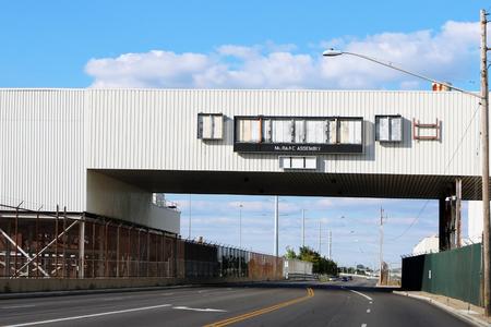 MORAINE, OHIO-JANUARY 20, 2018:  Abandoned General Motors Assembly plant in Moraine, Ohio. Standard-Bild - 101834368