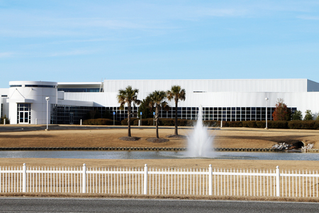 MONTGOMERY, ALABAMA-DECEMBER 26, 2017:  Headquarters for the Hyundai automotive assembly plant in Montgomery, Alabama.  The plant recently celebrated the assembly of their 5,000,000th car. Redakční