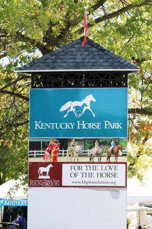 LEXINGTON, KENTUCKY-JANUARY 20, 2018:  Viewing stand at the Kentucky Horse Park. Standard-Bild - 101834379