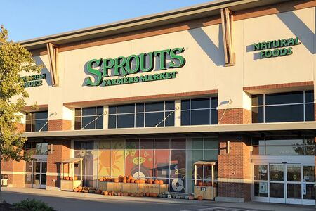 NASHVILLE, TENNESSEE-OCTOBER 29, 2018:  New Sprouts Farmers Market in a suburb of Nashville.