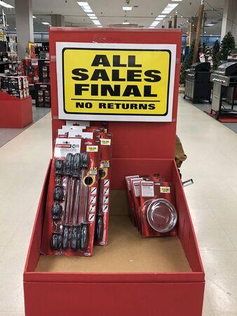Signs in a local Sears store indicating they are going out of business. Sears was once America's largest retailer.