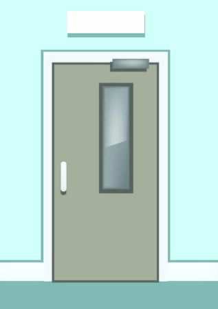 Vector Door Illustration for School, Office, University 向量圖像