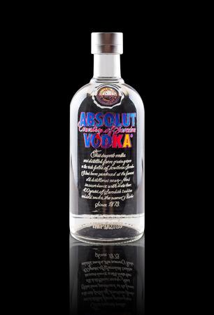 andy warhol: Guangzhou, China - May 8 2015: Bottle of Swedish vodka Absolut, Andy Warhol version.