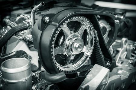 Een deel van de motor auto's Stockfoto