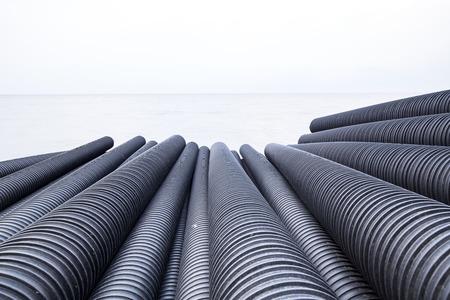 Industrial plastic pipe Stok Fotoğraf