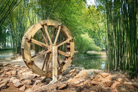 waterwheel 写真素材