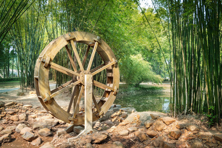 waterwheel Stok Fotoğraf