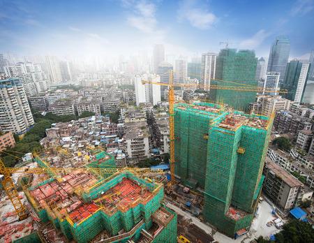 Construction site in city Standard-Bild