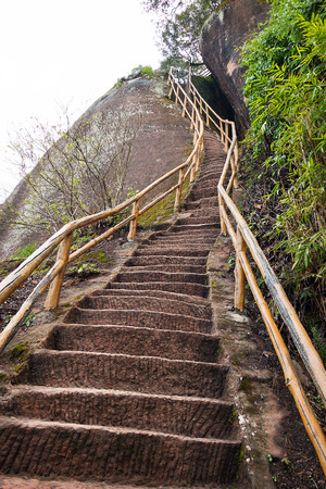 Stair on mountain