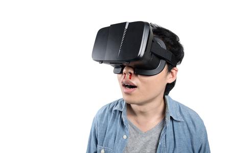 порно: Азиатский человек использовать VR очки смотреть порно видео Фото со стока