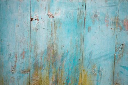 wainscot: Blue color planks