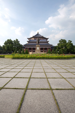 sen: guangzhou,china - july,23,2016:Sun yat sen memorial hall in guangzhou china. Editorial
