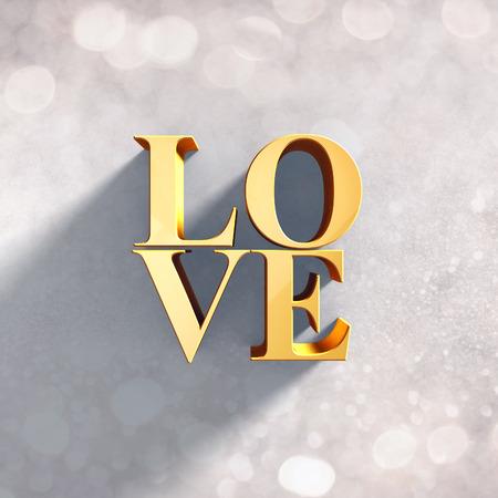 3D love greeting design