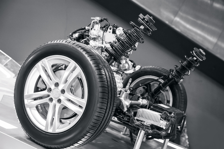 suspension system of the car 写真素材