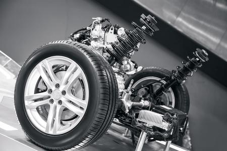 suspension system of the car Archivio Fotografico