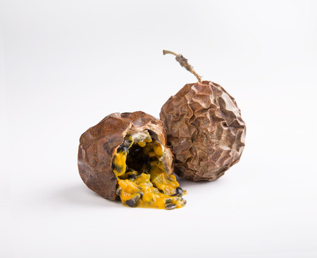 Old and dried passion fruit