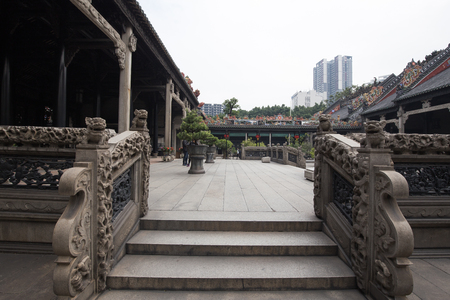 guangzhou,china - dec,13,2017:The Chen Clan Ancestral Hall is an academic temple in Guangzhou, China,
